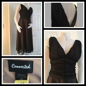 Connected Black Tulle Dress 12
